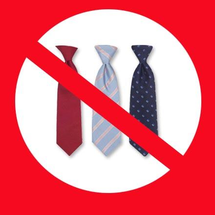 No ties at the wedding