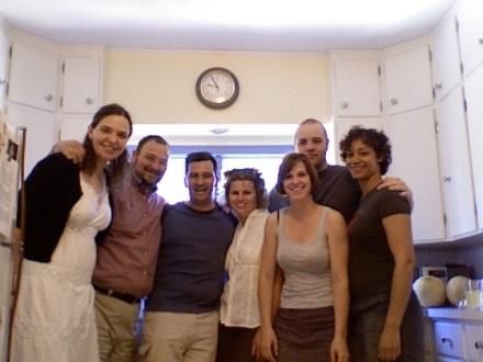 The gang at Ryan's house