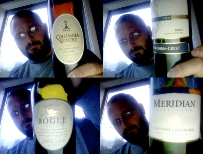 last nights wines